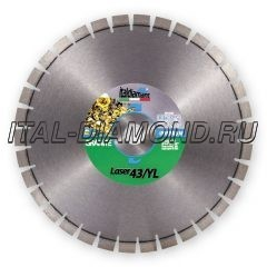 Диск алмазный 1А1RSS ItalDiamant 400х3,4х15х60 LASER 43/YL 4340671